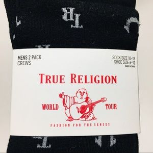 True Religion Men 10-13 Socks NEW